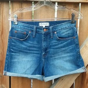 Madewell high rise denim shorts size 27